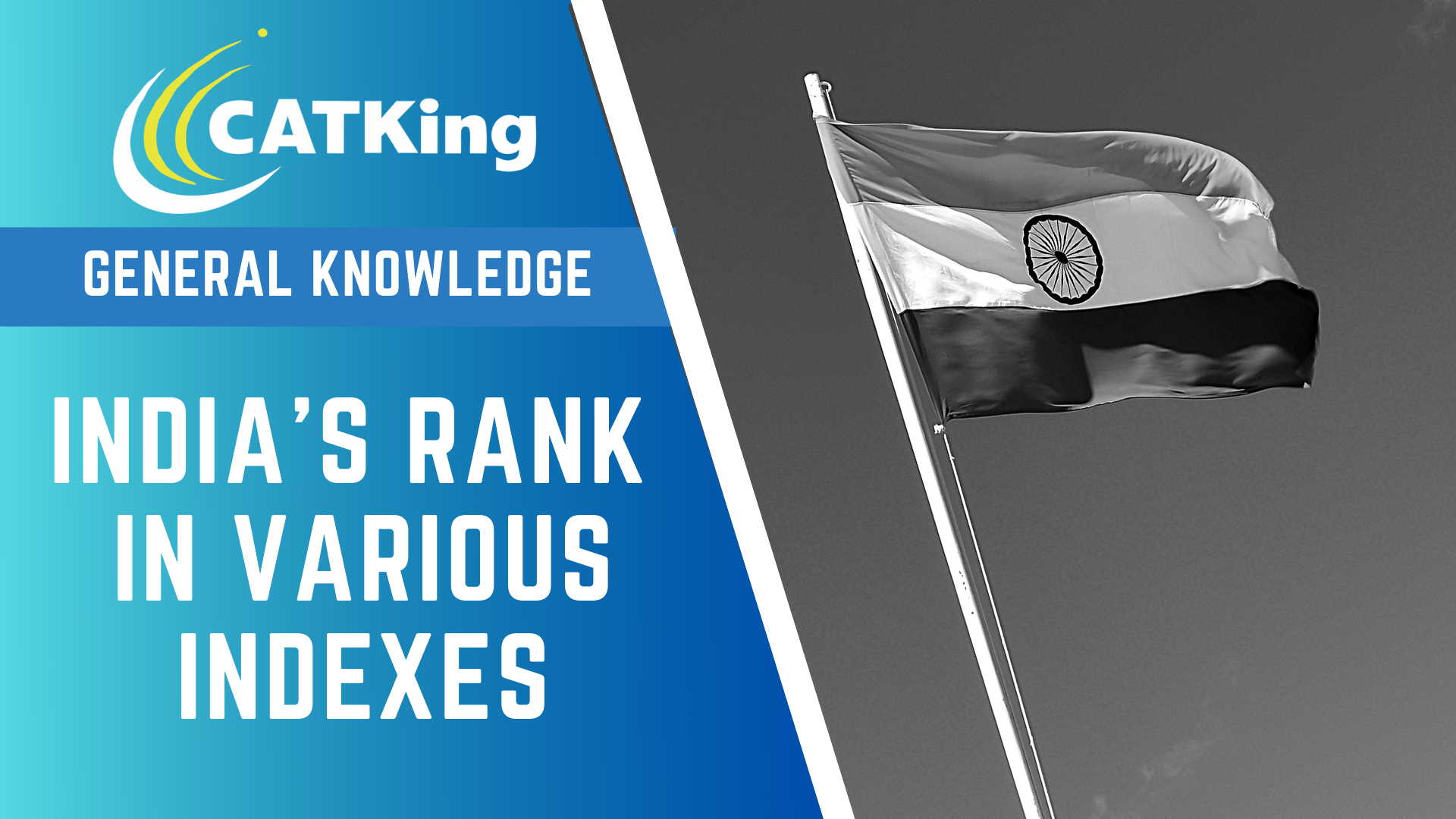 catking cover india's ranking in indexes